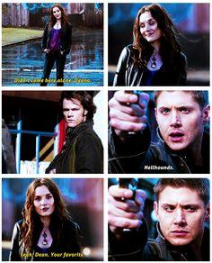 Supernatural Meg - so evil, yet so likable in later seasons. 5x10 Abandon All Hope...