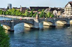 Middle Bridge Over Rhine în Basel, Elveția