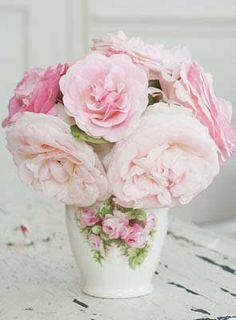 Roses in vintage porcelain