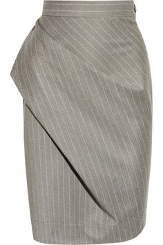 Vivienne Westwood Anglomania Philosophy pinstripe wool skirt. Look at that drape! Perfect.