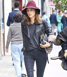 TheyAllHateUs. Leather jacket. Alexa Chung. Style. Outfit. Inspiration.