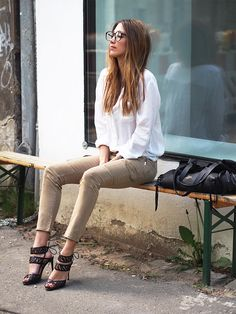 office looks, Büro Outfit, spring, summer, 2015, trends, vogue, ralph lauren, cargo pants, military, army, camouflage, fashionblogger, Berlin, helloshopping, Personal Shopping