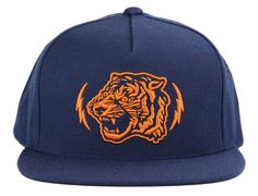 Navy Alley Cat Snapback Cap by PRIMITIVE APPAREL