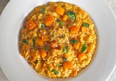 The Greatist Table: 5 Healthy Butternut Squash Recipes | Greatist - roasted butternut squash risotto