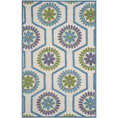 Safavieh Handmade Moroccan Cambridge Ivory/ Blue Wool Rug (4' x 6') | Overstock.com Shopping - Great Deals on Safavieh 3x5 - 4x6 Rugs