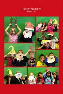 Santa photo booth....Christmas cards for students' families.