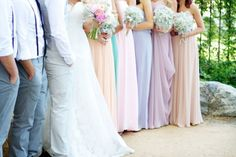Cotton Candy Colored Bridesmaids! (Photo by Krista Ashley Photography)