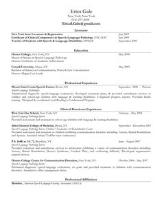 speech language pathologist resume sample my perfect resume