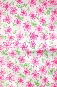 "Lilly Pulitzer's ""Pink Daisy"" print. Picture Yourself in Paradise at www.floridanest.com"