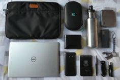 """Full fledged EDC  submitted by Max  Dell Inspiron 13 7000 7370 Laptop - (13.3"""" Touchscreen IPS FHD (1920x1080) 8th Gen Intel Quad-Core i5-8250U 256GB SSD 8GB DDR4 Backlit Keyboard Windows 10)  Inateck 13-13.3 Inch MacBook Air/ Pro Retina Sleeve Carrying Case Cover Protective Bag Water Repellent - Black (LC1300B)  HTC 10  Rite In The Rain - All-Weather Pocket Journal (4"""" x 6"""")  Parker Jotter Retractable Ballpoint Pen  Leatherman Crater c33  Thrunite t10  Osprey London Wallet  untangled…"""
