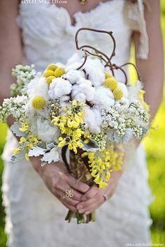 cotton bouquet with