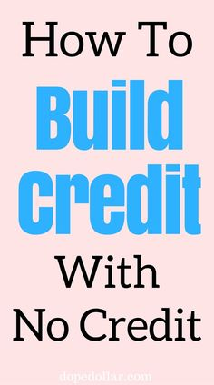 One of the smartest things you can do for your finances is to build credit when you are young. But how do you build credit when you have no credit history?