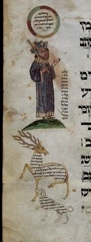 Eleazar of Worms, Haggadah for Passover (the 'Ashkenazi Haggadah'), German rite with the commentary of Eleazar of Worms Germany, S. (Ulm?); 3rd quarter of the 15th century, c. 1460