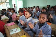 Education, and discipline is very important at Fr. Pedro Opeka centre, on Madagascar