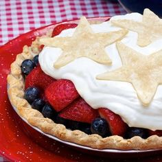 Uncle Sam's Fresh Strawberry and Blueberry Pie