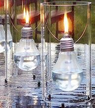 DIY: Lightbulb Lamps #food