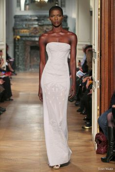 Tony Ward spring collection strapless dress
