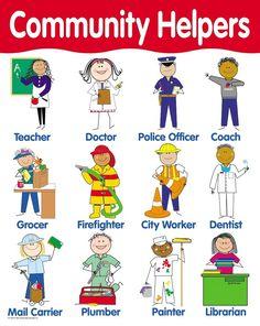 Community Helpers and Occupations Community Helpers Pictures, Community Helpers Crafts, Preschool Curriculum, Preschool Classroom, Preschool Activities, Kindergarten Readiness, Homeschooling, Helper Chart, Community Workers