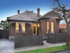 Photo of a brick house exterior from real Australian home - House Facade photo 525369 picket fence