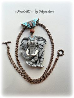 Items similar to Boho elephant necklace - polymer clay pendant - mothers day gift - animal jewelry - summer necklace - polymer clay jewelry - indian elephant on Etsy Polymer Clay Ornaments, Polymer Clay Necklace, Polymer Clay Pendant, Polymer Clay Charms, Polymer Clay Creations, Polymer Clay Art, Best Gifts For Her, Summer Necklace, Summer Jewelry