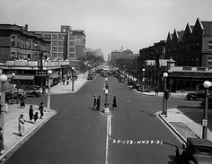 Sheridan and Lawrence, looking North on Sheridan, in 1936. You can see the top of the Edgewater Beach Hotel far in the background.