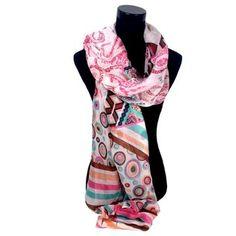 Sjaal met pasteltinten roze