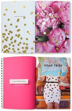 colorful, happy editorial designs. Kate Spade
