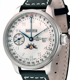 Zeno-Watch Basel | Oversized Retro Zodiac | Steel | Watch database watchtime.com  2,670