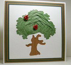 Iris Folded Card - Tree
