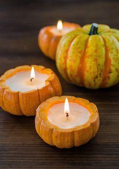 How to Make a Pumpkin Candle Fete Halloween, Holidays Halloween, Halloween Crafts, Fall Crafts, Little Pumpkin, A Pumpkin, Pumpkin Carving, Pumpkin Ideas, Pumpkin Candles