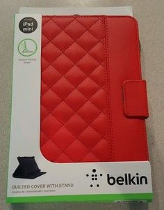 Belkin Quilted Cover/Case with multiple angle Stand for iPad mini (Ruby) **NEW**