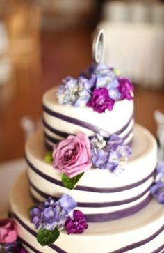cake, cakes, purple, garden, lavender, lovely, wedding