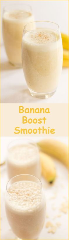 This delicious banana boost smoothie will give you such a great start to the day. With the added almonds providing vitamin E and the bananas being a great source of calcium, this is a great instant energy booster. Plus it's only 378 calories per serving!