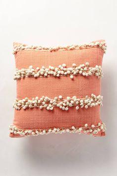 tassel trace pillow @ anthropologie - try DIY pom pom fringe Diy Pillows, Decorative Pillows, Cushions, Throw Pillows, Pillow Ideas, Throw Pillow Covers, Cushion Cover Designs, Cushion Covers, Diy Cushion