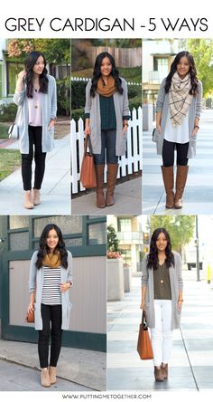 Grey cardigan 5 ways