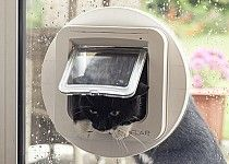 Putting a sureflap cat flap in a glass door shabby chic home the sureflap microchip cat flap can be installed in glass with the aid of sureflap mounting planetlyrics Images