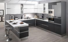 Cucina componibile, grafite lucido, grafite lucido, bianco lucido | : Veronica HL9S