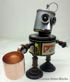 https://flic.kr/p/q2hhGG | Mr Coffee steampunk assembladge robot Sculpture