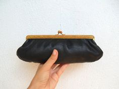 Victorian Clutch Bag with Enameled Gold by BlastFromThePastBags, $29.00