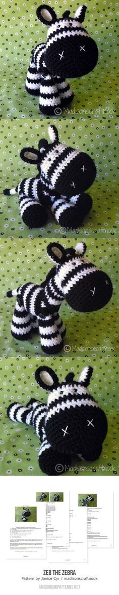 Zeb The Zebra Amigurumi Pattern                                                                                                                                                      More