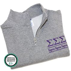Sorority Letters Shop Sigma Sigma Sigma Quarter Zip Pullover