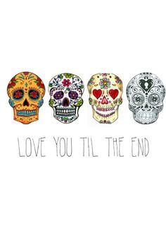 iPhone 5 wallpapers - sugar skulls