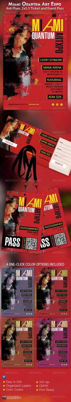 Miami Art Expo Flyer, Ticket and Event Pass - $6.00
