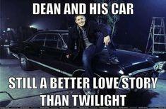 Dean-and-Impala-Supernatural-meme.jpg 570×374 pixels