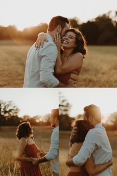 This East Texas Engagement Session has the BEST Golden Hour Vibes Engagement Photo Outfits, Engagement Photo Inspiration, Engagement Couple, Engagement Session, Outdoor Engagement Photos, Country Engagement, Engagements, Fall Engagement, Couple Photoshoot Poses