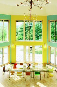 dining room, private house, Pöttsching, design by Klaus-Jürgen Bauer Architekten, 2001 My Design, Windows, Spaces, Architects, Window