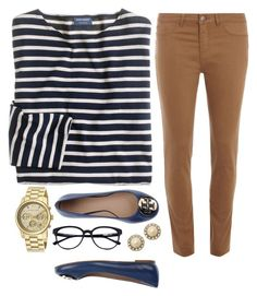"""it's casual"" by polyvore-prep ❤ liked on Polyvore featuring J.Crew, Dorothy Perkins, Michael Kors, Tory Burch and Kate Spade"