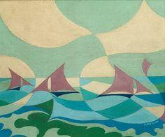 'Vele Mare' (Sea Sails) by Giacomo Balla aka 'Futur Balla' (1919)