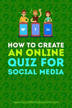 Want a fun way to learn more about your audience and customers? Have you considered running your own online quiz?  In this article, you�ll discover two tools to design and publish a customized personality quiz on social media. #SocialMediaExaminer #Social