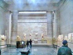 The Parthenon Marbles in the British Museum. Elgin Marbles, Parthenon, British Museum, Painting, Painting Art, Paintings, Painted Canvas, Drawings